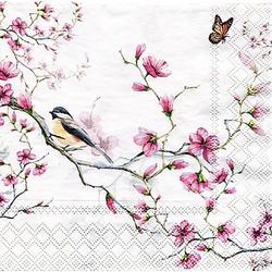 """Papierservietten """"Kirschblütenzweig"""", 33 x 33 cm, 20 Stück"""
