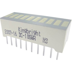 Kingbright DC-10GWA LED-Bargraph 10fach Grün (B x H x T) 25.4 x 10.16 x 8mm