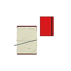 Small Weekly Diary 12 Month 2021 - Red