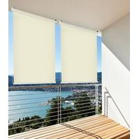 Home & Garden Sonnenschutz Rollo Aussenrollo Sichtschutz Balkon creme 140x140cm 302660214-VH