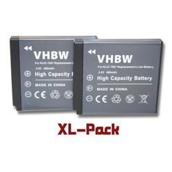 vhbw 2x Akku Set 480mAh (3.6V) für Phisung HDV-D505SC, Praktica DMMC-3D, DMMC3D wie Klic-7001, DLi-213, VG0376122100001.