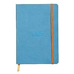 Rhodiarama flexi Blattes Notizbuch A5 80 Blatt liniert Papier elfenbein 90g  Türkis - Buch