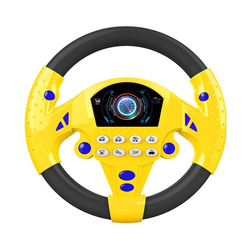 Gotui Spielzeug-Lenkrad Autolenkrad, Lenkradspielzeug,Kinderspielzeug gelb