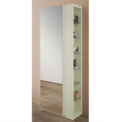 Garderobenschuhschrank in Creme Weiß Spiegel
