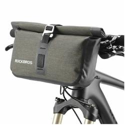 ROCKBROS Lenkertasche Fahrrad Lenkertasche Rahmentasche Fahrradtasche 100% Wasserdicht, 5 Liter, Wasserfest