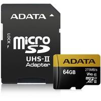 A-Data microSDXC Premier ONE 64GB Class 10 UHS-II U3 + SD-Adapter