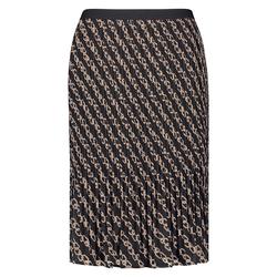 Plisséerock mit modernem Kettendruck Samoon Black gemustert