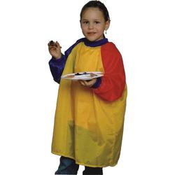 Malkittel one size gelb/rot/blau mit langen Ärmeln für Kinder von 3-8
