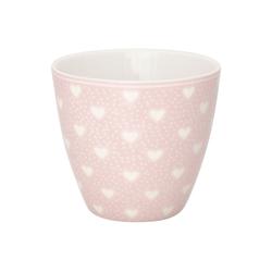 Greengate Becher Greengate Latte Cup PENNY PALE PINK Rosa mit Herzen