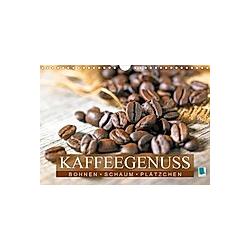 Bohnen, Schaum & Plätzchen: Kaffeegenuss (Wandkalender 2021 DIN A4 quer)