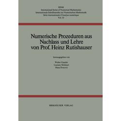 Numerische Prozeduren als Buch von H. Rutishauser