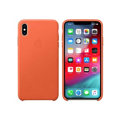 Apple Leder Case Handy-Hülle für Apple iPhone XS Max sonnenuntergang