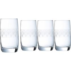 Luminarc Longdrinkglas Paradisio (4-tlg), Glas, mit Pantographie-Optik