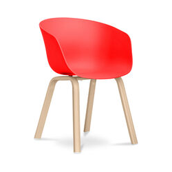 Hey Chair Skandinavisches Design - Mattes Rot
