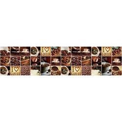 Vliestapete KAFFEE COLLAGE, grafisch, 250 x 60 cm
