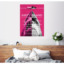 Posterlounge Wandbild, Amity Island - Pflegeanleitung 60 cm x 80 cm