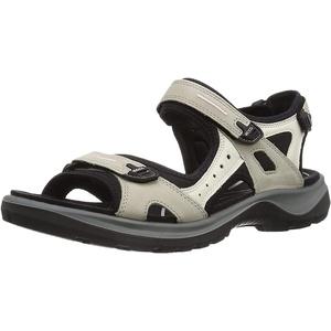 ECCO Damen OFFROAD Flat Sandal, Beige (ATMOSPHERE/ICE W./BLACK), 35 EU
