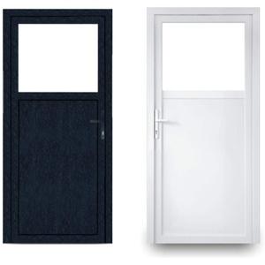 EcoLine Nebentür - Nebeneingangstür - Tür - 2-Fach, 1/3 Glas, 2/3 Füllung, außenöffnend innen: weiß/außen: anthrazit BxH: 900 x 1900 mm DIN Links