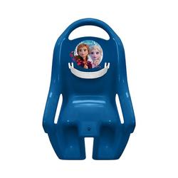 STAMP Fahrradkindersitz Fahrradpuppensitz Frozen Die Eiskönigin blau