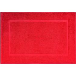 Badematte Kristall Dyckhoff, Höhe 2 mm, 2er Set Hotelmatte rot 2-tlg. Badematte