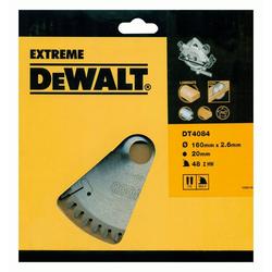 DeWalt Kreissägeblatt (1-St), Extreme Handkreissägeblatt DT4084 Holz Aluminium Sägeblatt Ø160mm