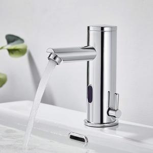 Auralum Badarmatur Infrarot Sensor Wasserhahn Bad Automatisch Induktion Mischbatterie fürs Waschbecken Badezimmer Handwaschbecken