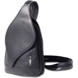FLORENCE Cityrucksack D2OTF602X Florence Leder Tasche Damen Rucksack, Damen Rucksack, Tasche aus Echtleder in schwarz schwarz