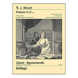 Fantasie in d (KV 397)  Bearbeitung für Flöte und Gitarre. Wolfgang Amadeus Mozart  - Buch