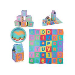 Baby Vivo Spielmatte EVA-Puzzlematte / Spielmatte für Kinder 190 x 190 cm - mit Buchstaben und Zahlen