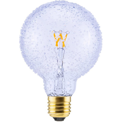 SEGULA LED Globe Kristall Optik LED-Leuchtmittel, E27, Extra-Warmweiß, LED Globe Kristall Optik