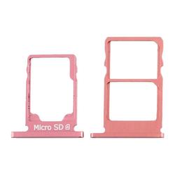 Wigento Für Nokia 5.1 Simkarten Halter Card Tray Purpurrot Purplish Red SD Card Ersatzteil Zubehör Smartphone-Adapter, 0 cm