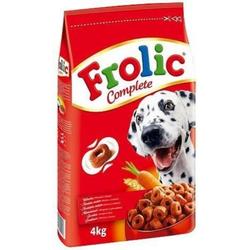FROLIC Hundefutter Trockenfutter mit Rind, Karotten und Getreide 3x4 kg