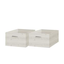 FLEXA Ordnungsboxen, 2er-Set  Flexa Classic ¦ weiß ¦ Maße (cm): B: 45 H: 30 T: 84