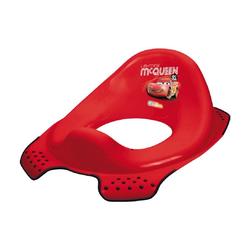 Lorelli Toilettentrainer Toilettensitz Comic, Spritzschutz ergonomische Form rutschfeste Basis rot