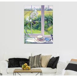 Posterlounge Wandbild, Leseecke im Fenster, Detail 50 cm x 70 cm