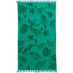 Seahorse Strandtuch Tropical (1-St), mit Blättern und Tukane grün