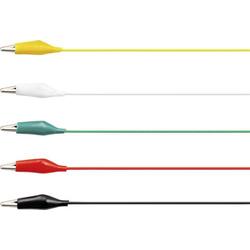 VOLTCRAFT KS-630/0.1 Messleitungs-Set [Abgreifklemmen - Abgreifklemmen] 0.63m Schwarz, Rot, Gelb, Gr