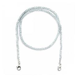 null Karat Kette ohne Anhänger Kristallglas (Maskenkette) grau