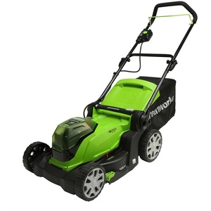 Greenworks Akku-Rasenmäher G24X2LM41 (Li-Ion 2 x 24V 41cm Schnittbreite bis zu 220m2 50L Grasfangkorb 6-fache zentrale Schnitthöhenverstellung ohne Akku und Ladegerät)