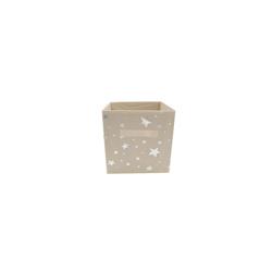 HTI-Line Aufbewahrungsbox Aufbewahrungsbox mit Metallicdruck Paloma (1 Stück), Stoffbox weiß