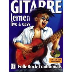 Gitarre live und easy I. Songbegleitung. Inkl. 2 CDs als Buch von Walter Haberl