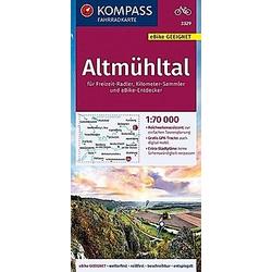 KOMPASS Fahrradkarte Altmühltal 1:70.000 - Buch