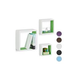 relaxdays Wandregal Wandregal Cubes 3-teiliges Set