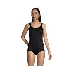 Komfort-Badeanzug CHLORRESISTENT mit Soft Cups und Bauchweg-Futter - XS - Schwarz
