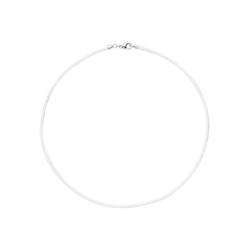 JOBO Kette ohne Anhänger, Seidenkette weiß 42 cm