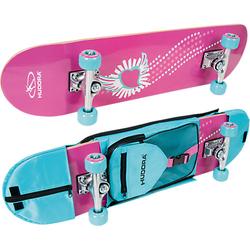 Skateboard Skate Wonders mit Rucksack pink