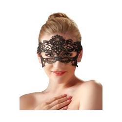 Augenmaske, gestickt, mit schmalem Spitzenband