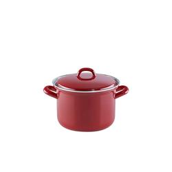 Riess Kochtopf Fleischtopf mit Glasdeckel RED Ø 16 cm