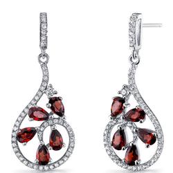 Silberne Ohrringe voller Granate Sisia