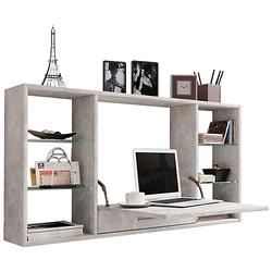 Wandschreibtisch Wandtisch Schreibtisch Wandregal Bürotisch Teala grau